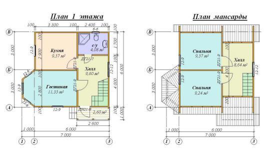 владельцев проект дома 7 на 7 с мансардой убрать